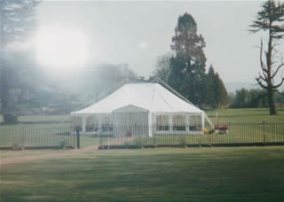 Marquee in the paddock